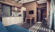 Limnos - Keros Blue, Villa Deluxe, Wohnbereich mit Küche