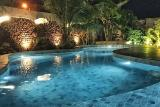Sao Miguel do Gostoso - Ilha do Vento, Pool bei Nacht