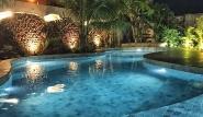 Sao Miguel do Gostoso - Ilha do Vento, Pool bei Nacht