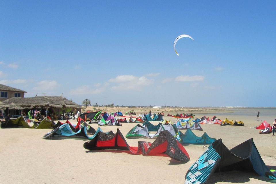 Djerba, Les Dauphins KiteCenter, Strand vor der Station