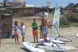 Karpathos, Meltemi Windsurfing Lagune, Schulung Strand
