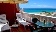 Fuerte Süd - Bahia Calma, Balkon mit Meerblick