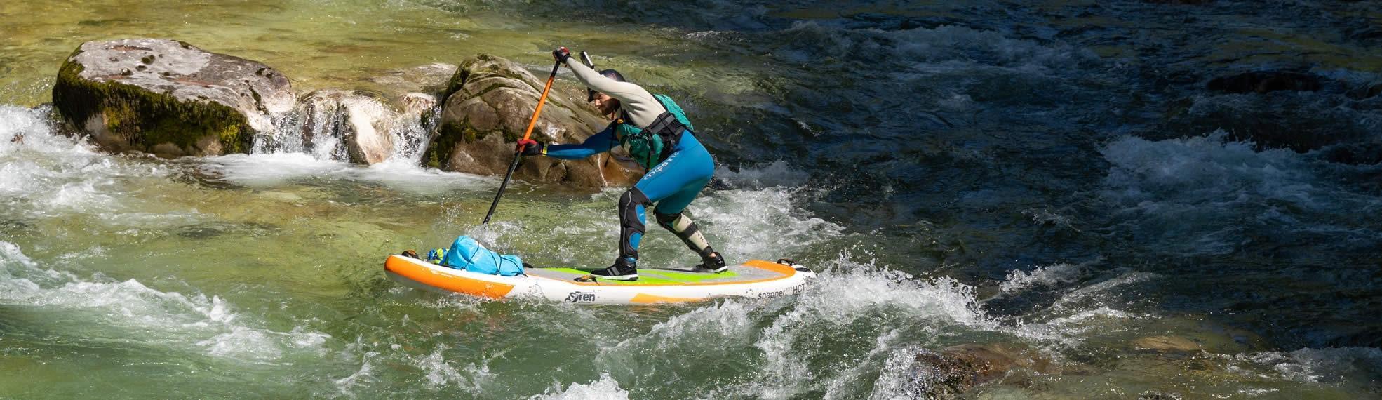 Paddler im Wildwasser