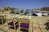 El Gouna, Captain`s Inn, Steakhouse Blick zum Hafen