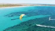 Limnos - Surf und Kite Revier, Luftansicht
