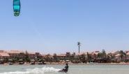 El Gouna, Kite-People, Blick auf Mövenpick Resort