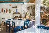 Karpathos, Poseidon Blue, Restaurant mit viel Flair