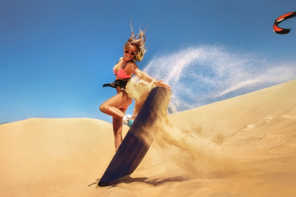 Dakhla Süd - Sandboard Action