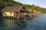 West Papua - Papua Explorer,  Deluxe Wasserbungalow