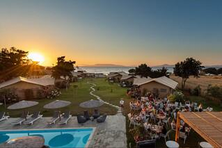 Rhodos Theologos - 'LOGOS Beach Village, bei Sonnenuntergang