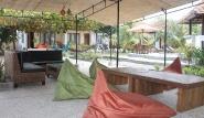 Lembongan - Two Fish Resort, Loungebereich